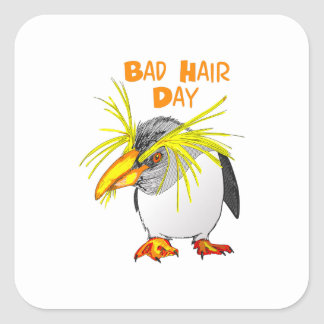 BAD HAIR DAY SQUARE STICKER