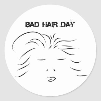 Bad Hair Day Stickers