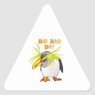BAD HAIR DAY TRIANGLE STICKER