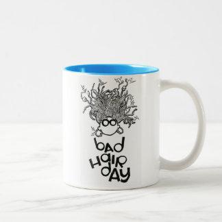 Bad Hair Day Two-Tone Coffee Mug