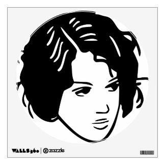 Bad Hair Day Woman Wall Sticker
