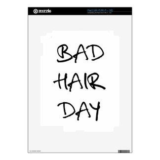 bad hair day word art text design for t-shirt iPad 2 skin