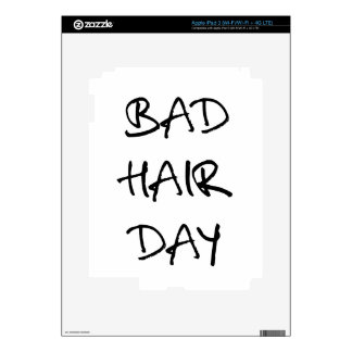 bad hair day word art text design for t-shirt skin for iPad 3