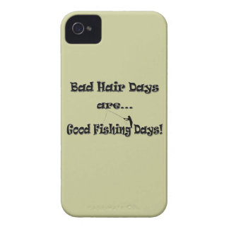 Bad Hair Days are Good Fishing Days! Case-Mate iPhone 4 Case
