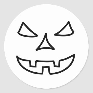 Bad Halloween face Classic Round Sticker