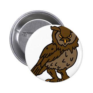 bad halloween owl buttons