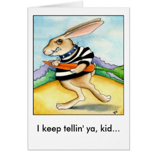 Bad Hare Day Easter Bunny Card