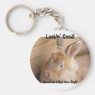 Bad Hare Day Keychain