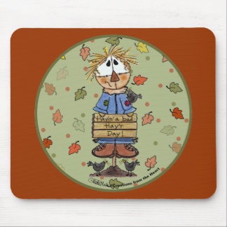 Bad Hay'r Day Scarecrow Mouse Pad