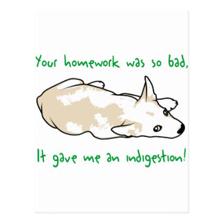 Bad Homework Postcard