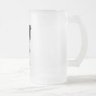 Bad Human Mocking devil Frosted Glass Beer Mug