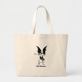 Bad Human mocking Devil Large Tote Bag