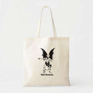 Bad Human Mocking devil Tote Bag