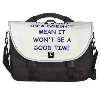 bad idea laptop messenger bag