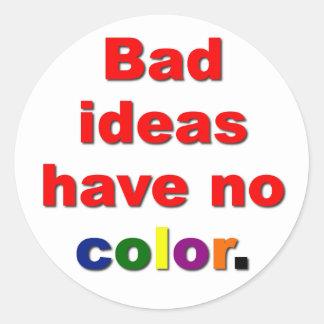 Bad Ideas Classic Round Sticker