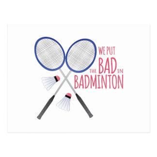 Bad In Badminton Postcard