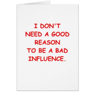 bad influence card