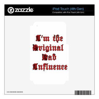 Bad Influence Decal For iPod Touch 4G