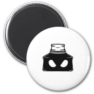 Bad Ink Bottle 2 Inch Round Magnet