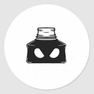 Bad Ink Bottle Classic Round Sticker