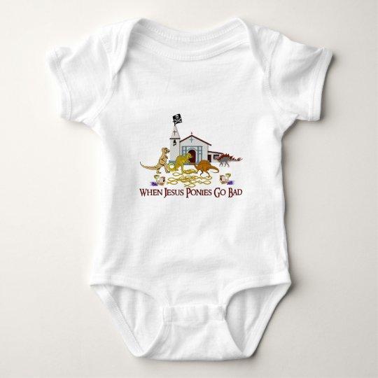 Bad Jesus Ponies Baby Bodysuit