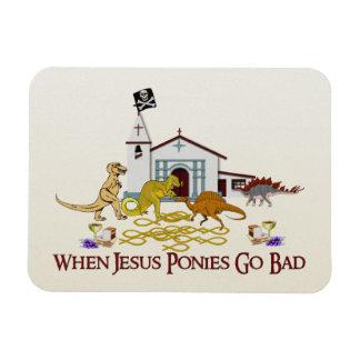 Bad Jesus Ponies Rectangular Photo Magnet