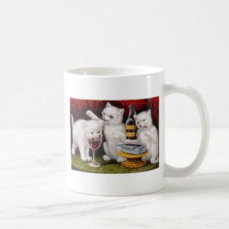 Bad Kitties Drinking Wine Artwork Coffee Mug