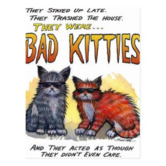 Bad Kitties Postcard
