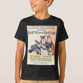 bad kitties with squirt guns T-Shirt