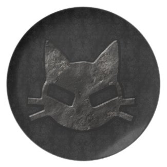 Bad Kitty Black Gothic Plate plate