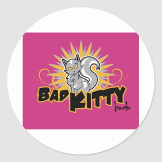 Bad Kitty by BuDu Classic Round Sticker