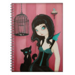 Bad kitty - fairy goth notebook