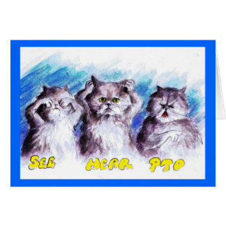 Bad Kitty Greeting Card