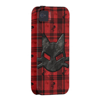 Bad Kitty iPhone 4 Case with Skulls Hearts