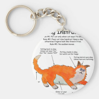 Bad Kitty Petting instructions Keychains