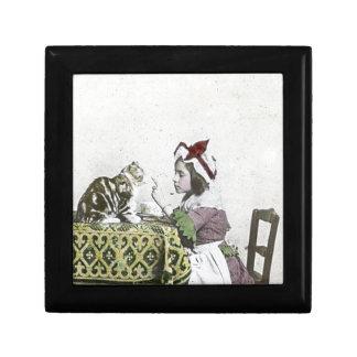 Bad Kitty Victorian Tea Party Vintage Little Girl Gift Box