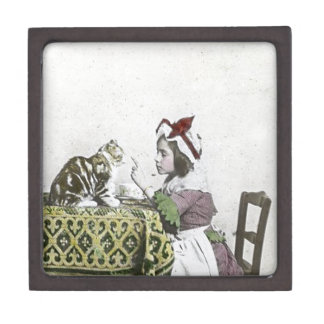 Bad Kitty Victorian Tea Party Vintage Little Girl Jewelry Box