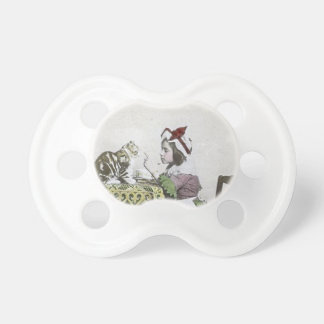 Bad Kitty Victorian Tea Party Vintage Little Girl Pacifier