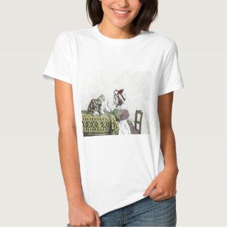 Bad Kitty Victorian Tea Party Vintage Little Girl T Shirt