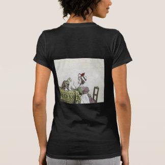Bad Kitty Victorian Tea Party Vintage Little Girl T-shirt