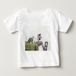 Bad Kitty Victorian Tea Party Vintage Little Girl Tee Shirt