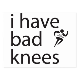 Bad Knees Postcard