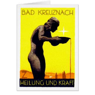 Bad Kreuznach 1920 Alemania Tarjeta Pequeña