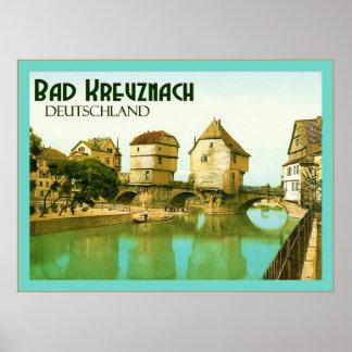 Bad Kreuznach ~ Deutschland  ~ Vintage Travel Poster
