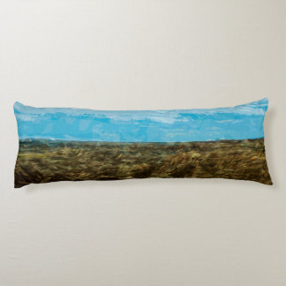 Bad Lands National Park South Dakota Abstract Body Pillow