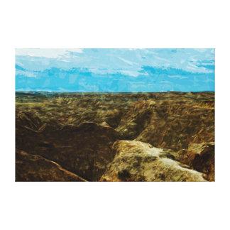 Bad Lands National Park South Dakota Abstract Canvas Print