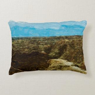 Bad Lands National Park South Dakota Abstract Decorative Pillow