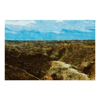 Bad Lands National Park South Dakota Abstract Photographic Print