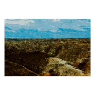 Bad Lands National Park South Dakota Abstract Posters