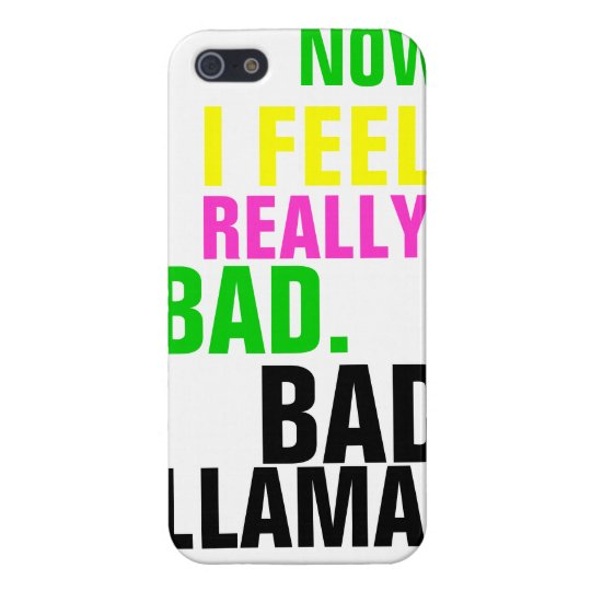 Bad Llama Typography Case For iPhone SE/5/5s